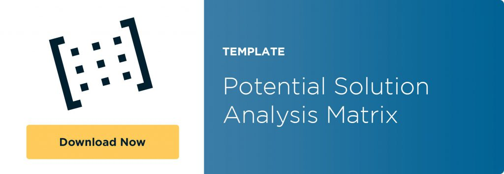 potential-solution-analysis-matrix